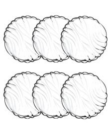 Jogo 6 pratos para bolo em cristal bamboo 18,1 cm wolff