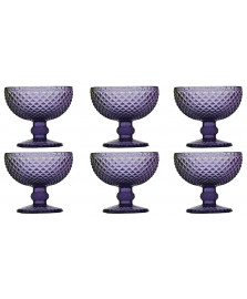 Jogo 6 taças lilas bico de jaca 220 ml bon gourmet