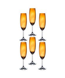 Jogo de 6 taças para champanhe anna ambar 220 ml