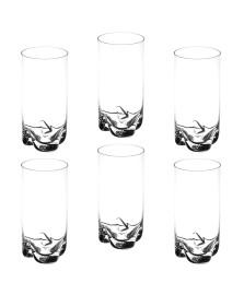 Jogo de 6 copos altos rocks em cristal ecológico titânio 350 ml bohemia style