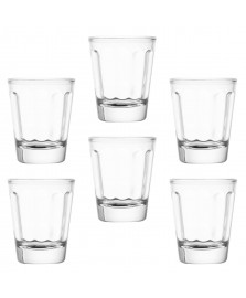 Jogo de 6 copos de vidro para shot lyor