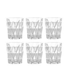 Jogo 06 copos drink vitral verre transparente mimo