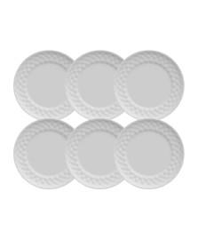 Jogo de 6 pratos rasos plissan germer