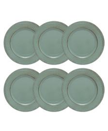 Jogo de 6 sousplat de plástico verde 33 cm bon gourmet