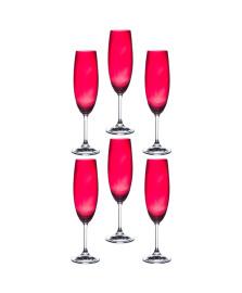 Jogo de 06 taças para champanhe anna ruby 220 ml