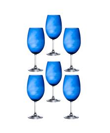 Jogo de 06 taças para agua azul 600 ml