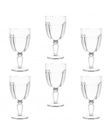 Jogo de 6 taças para água de vidro cablanca 320 ml pasabahçe