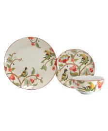 Jogo de jantar 18 peças de porcelana melia red l'hermitage