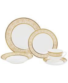 Jogo de jantar 30 peças porcelana elegance