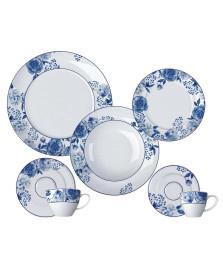 Jogo de jantar 42 peças versa blue romance germer