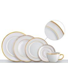 Jogo de jantar 42 peças versa dourado germer