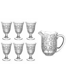 Jogo de jarra 06 taças vidro starry bon gourmet