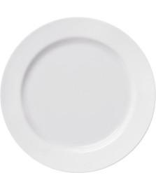Jogo 06 pratos rasos branco 06 peças versa germer