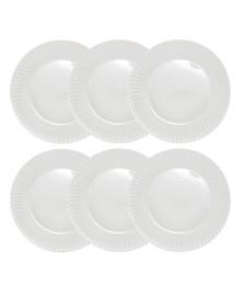 Jogo de pratos rasos diamante porcelana germer porcelanas