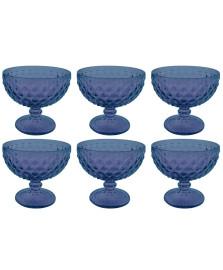 Jogo 06 taças sobremesa verre azul mimo