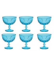 Jogo de taças sorvete 380 ml azul country libbey