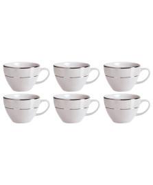 Jogo de 6 xícaras para café cristal germer