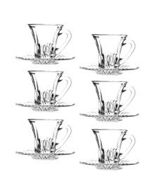 Jogo de xícaras de café em cristal 105 ml diamond lyor