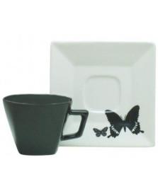 Jogo de 6 xícaras para chá quartier tatoo oxford