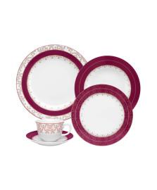 Jogo jantar 30 peças flamingo dama de honra oxford saldo