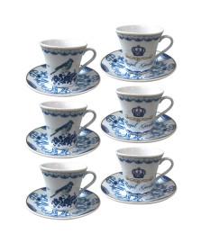 Jogo p/ café 12 peças royal garden azul dynasty