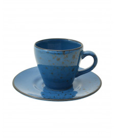 Jg para cafe 12 pcs nature blue em porcelana 90 ml lhermitage