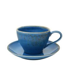 Jogo para cha 12 pcs nature blue em porcelana 200ml