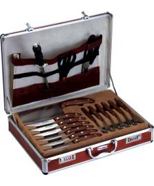 Jogo para churrasco 32 peças em maleta de alumínio