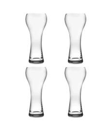 Jogo de 4 copos 400 ml  para cerveja weisen em cristal bohemia