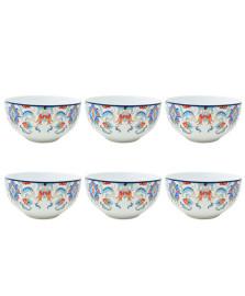 Jogo de 6 bowls tunisia porcelana 14cm lhemi