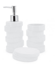 Jogo de banheiro ivory white 3pcs mimo style