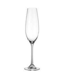 Conjunto 06 taças de cristal ecologico para champagne columba 260 ml