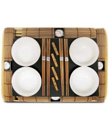 Kit bowls 17 peças 34 x 25  cm kyoto