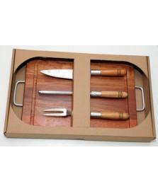 Kit churrasco 04 peças wood designs