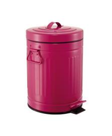 Lixeira 05 l retro rosa mart