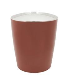 Lixeira cromo vitra 5 litros terracota
