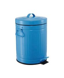 Lixeira 12 l retro azul mart