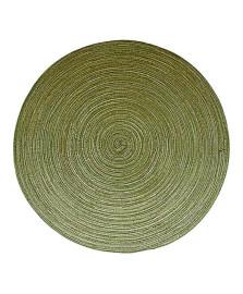 Lugar americano verde redondo 38 cm mimo