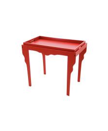Mesa de apoio retrô vermelha tramontina