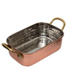 Mini bowl em inox martelado 14 cm cobre fracalanza