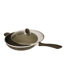 Panela wok 32 cms tampa de vidro dynasty