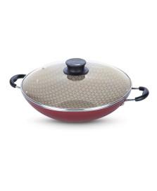 Panela wok 36 cm paris vermelha tramontina