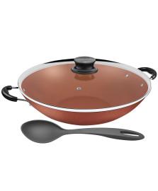 Panela wok alumínio 36.5 cm cobre paris tramontina