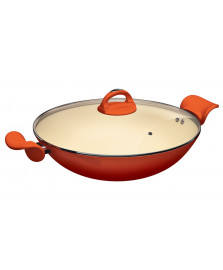 Panela wok com alças laranja intense euro