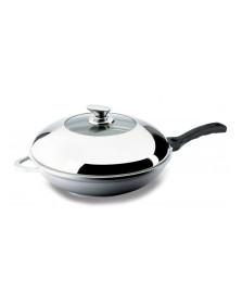 Panela wok com cabo 32 cm hercules
