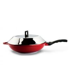 Panela wok com cabo 32 x 8 cm hercules