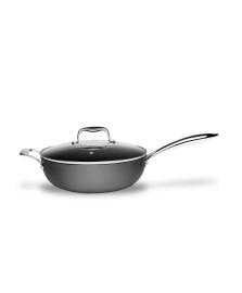 Panela wok com tampa 4.5 lt diamond brinox