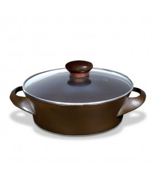 Panela wok ceramica marrom 32 cm ceraflame