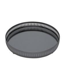 Bandeja black com espelho gallery 30 cm