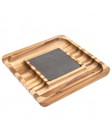 Petisqueira madeira com pedra james.f